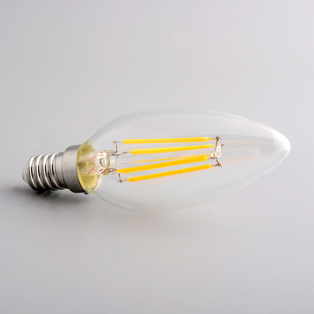 Edison Style Vitange Antique E14 4W/220V Spiral Candle Light Office Exhibition Lamp Artistical Bulb C35(China (Mainland))