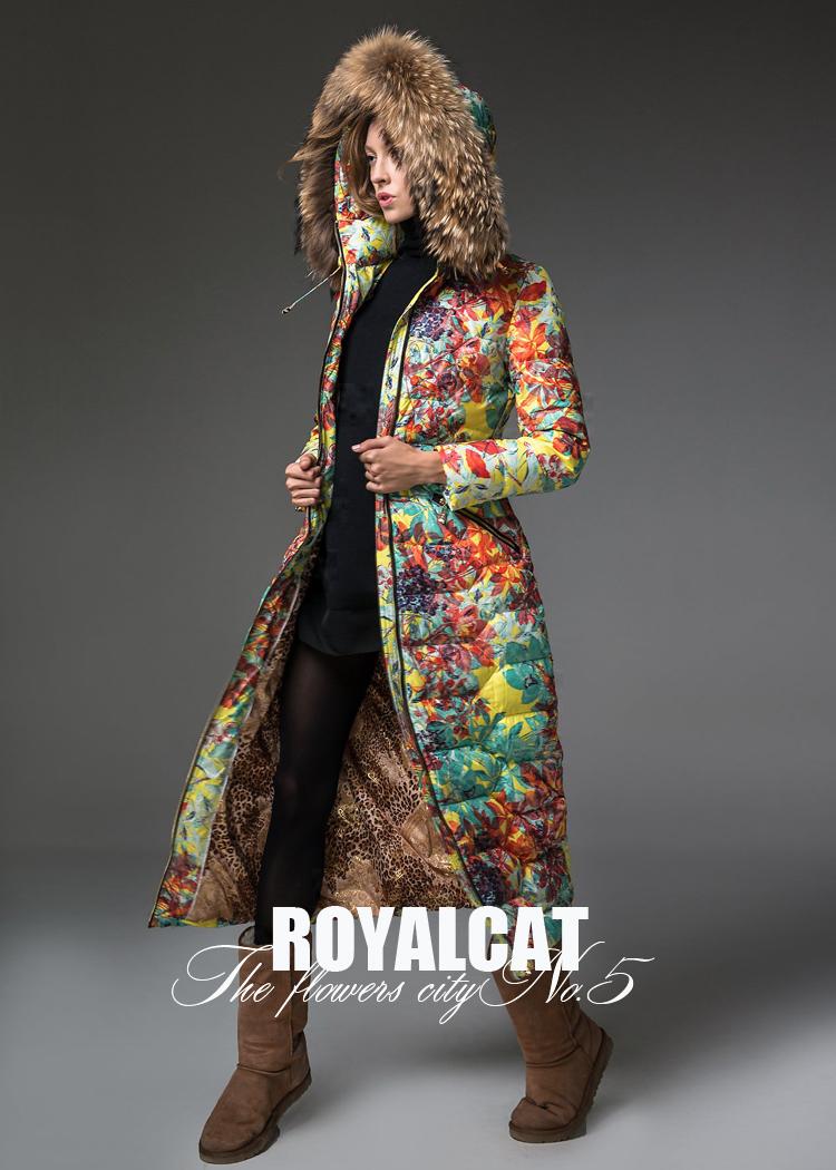 Tantalising royalcat huadu 5 2013 thickening flower women s slim down coat female long design
