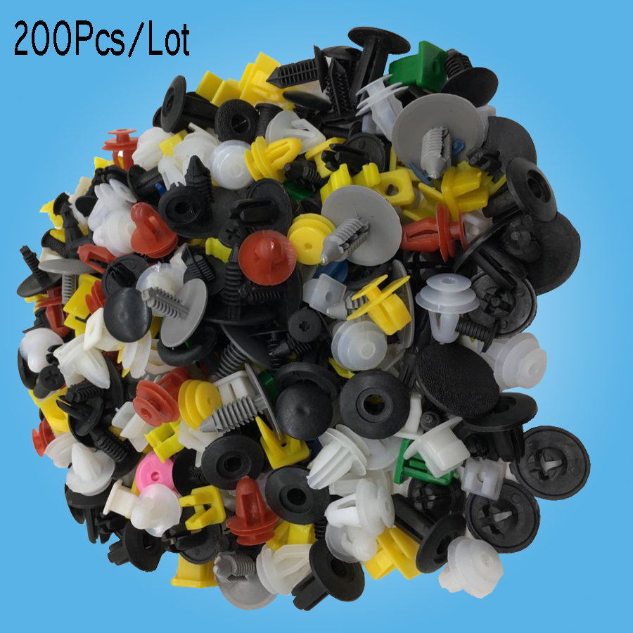 200Pcs Mixed auto fastener Vehicle Car Bumper Clips Retainer Fastener Rivet Door Panel Fender Liner universal for all car(China (Mainland))