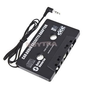 Free Shipping Car Cassette Tape Adapter FOR MP3 CD MD DVD For Clear Sound Music New(China (Mainland))