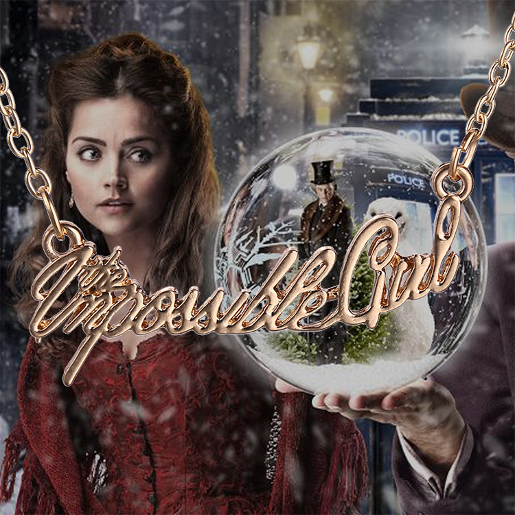 New 2015 Hot Wholesale Doctor Who The Impossible Girl Letter Pendant Necklace Fan Gift Movies Jewelry