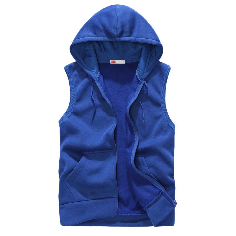 2015 New Fashion Brand Men Vest Men Jacket Sports Men Coat With Velvet Casual Waistcoat Sleeveless Jacket Men Hoodie Vest(China (Mainland))