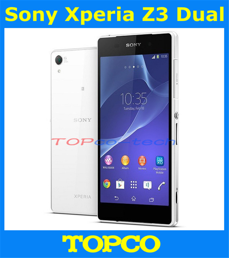 """Sony Xperia Z3 Dual original unlocked Quad-core Android mobile phone Sony D6633 WIFI GPS 3G&4G 5.2"""" 20.7MP 16GB ROM dropshipping(China (Mainland))"""