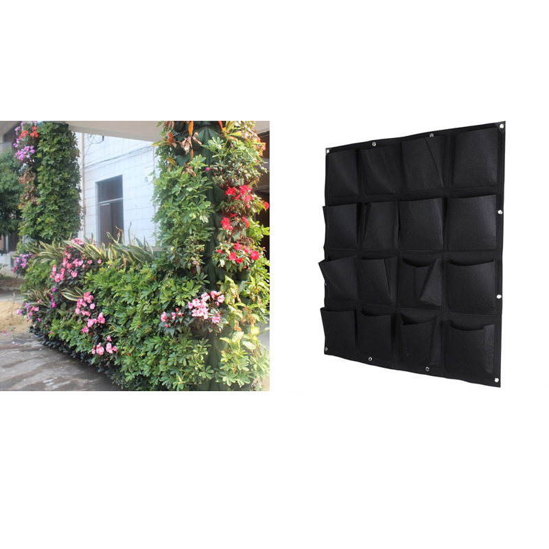 2016 new indoor outdoor wall hanging planter vertical felt garden plant grow container bags 16 - Wall mounted planters outdoor ...