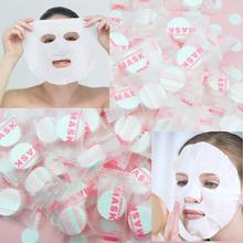 Hot 100 pz/borsa fibra vegetale cura della pelle diy facciale maschera di carta compressa tablet masque trattamento viso maschera fai da te(China (Mainland))