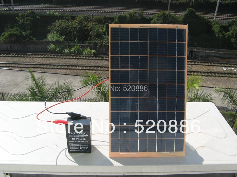 10W solar panel for 12V battery charging Polycrystalline Silicon , used for solar garden lighting, Small home lighting system(China (Mainland))