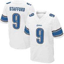 Men's #9 Matthew Stafford Elite White Football Jersey 100% stitched(China (Mainland))