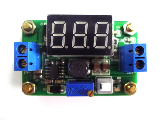 30pcs/lot DC Power Supply Buck Step-down Module with LED display Current Adjustable 4.5V-24V to 0.93-20V(China (Mainland))