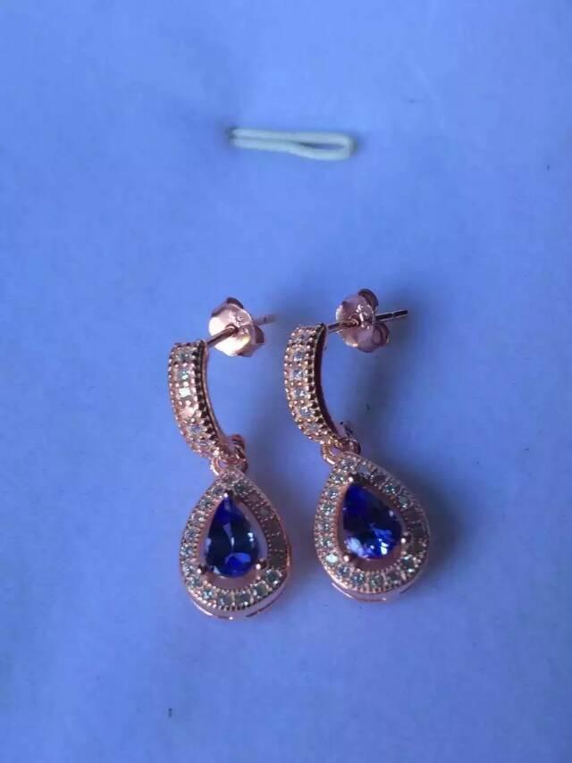 Classic popular water drop blue natural tanzanite drop earrings 925 sterling silver natural gemstone earrings for women jewelry<br><br>Aliexpress