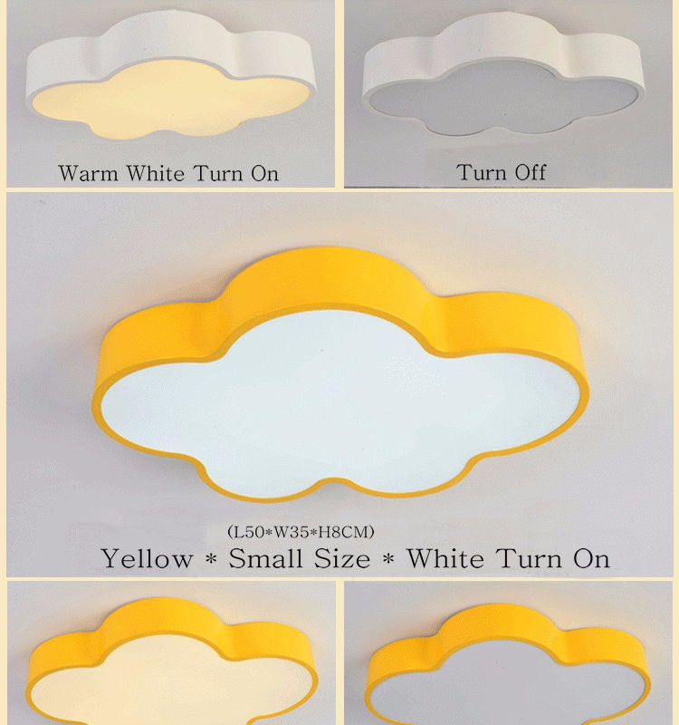 LED Cloud kids room lighting children ceiling lamp Baby ceiling light with yellow blue red white color for boys girls bedroom fixtures_08