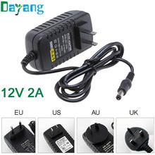 AC 100-240V to DC 12V 2A Switch Switching Power Supply Converter Adapter EU US UK AU Plug(China (Mainland))
