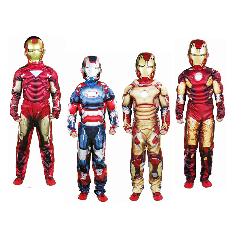 Children Ironman Costumes Avengers Kids Boys Halloween Cosplay 3-12T - A&J Design store