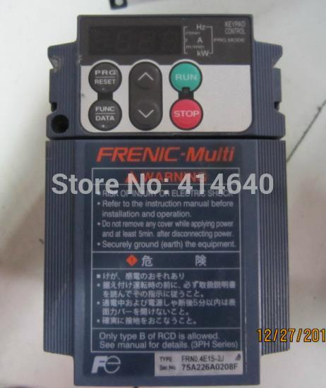 FRN0.4E1S-2J 0.4KW 220V FRN0.4E1S-2A inverter industrial VFD frequency AC drive Used with 60days warranty(China (Mainland))