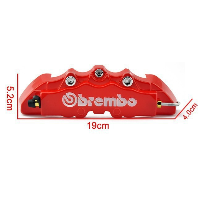 Free shipping Red Brembo Style Auto Universal 2Pcs Set Disc Brake Caliper Covers Replacement Parts Callipers