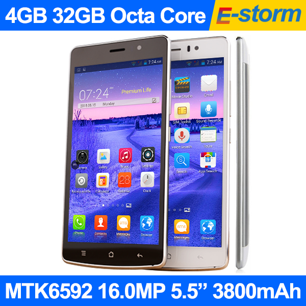"""2015 New Octa Core Phone 4GB 32GB Android 5.0 MTK6592 2.0GHz 16MP Camera 5.5"""" 1920x1080 FHD Screen V19 LTE Celular Movil Phones(China (Mainland))"""