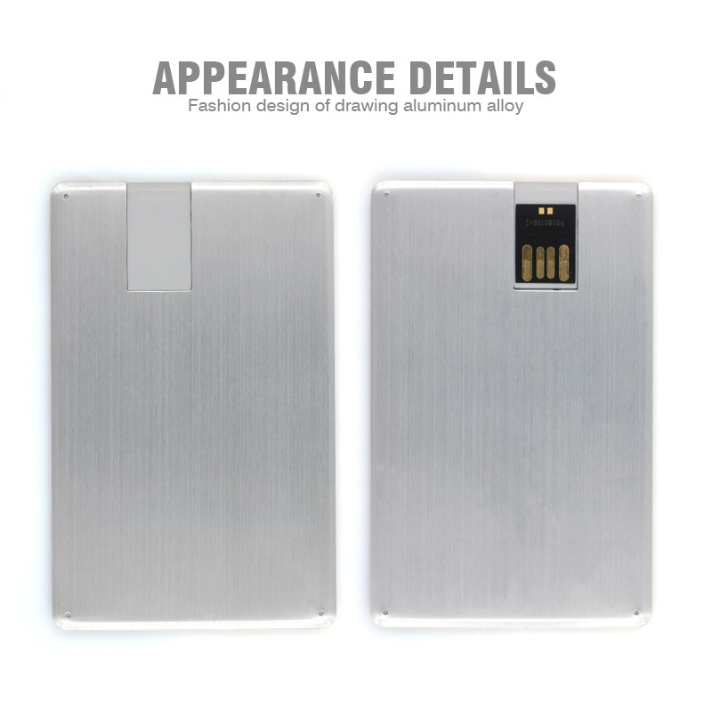 promotional gifts 4gb 8gb 16gb 32gb ultra thin aluminum alloy customized logo business card usb flash drive(China (Mainland))
