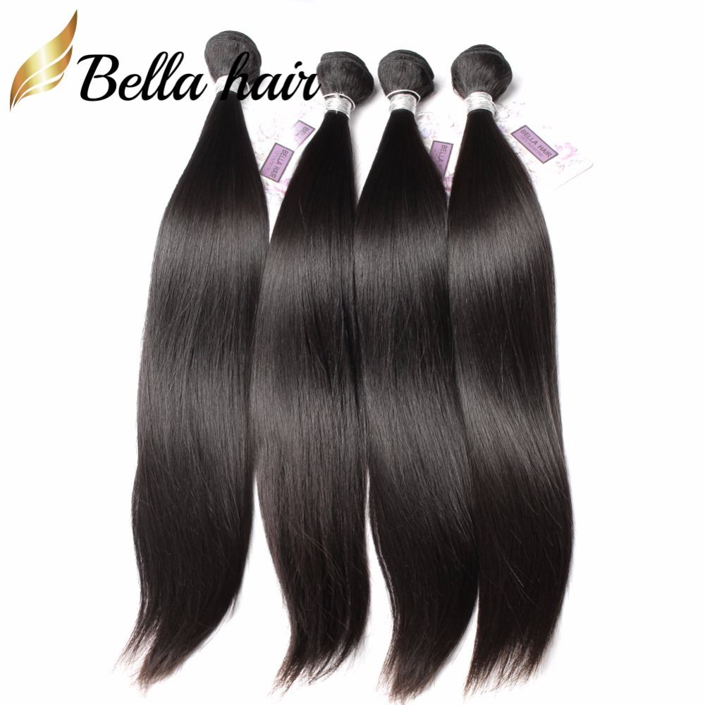 Bella Hair 4 Bundles One Donor Brazilian Straight Hair Style Remy Virgin Human Hair Weft 8A Brazilian Virgin Hair Straight(China (Mainland))