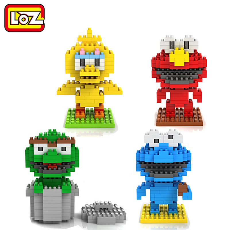LOZ Diamond Building Blocks Sesame Street Toys Elmo Big Bird Cokkie Monster Oskar The Grouch Figure Toy 14+(China (Mainland))