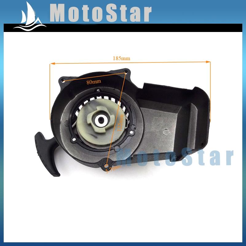 Aluminum Minimoto Easy Recoil Pull Starter For 2 Stroke 47cc 49cc Engine Pocket Bike Mini Moto Dirt Bike Kids ATV Quad(China (Mainland))