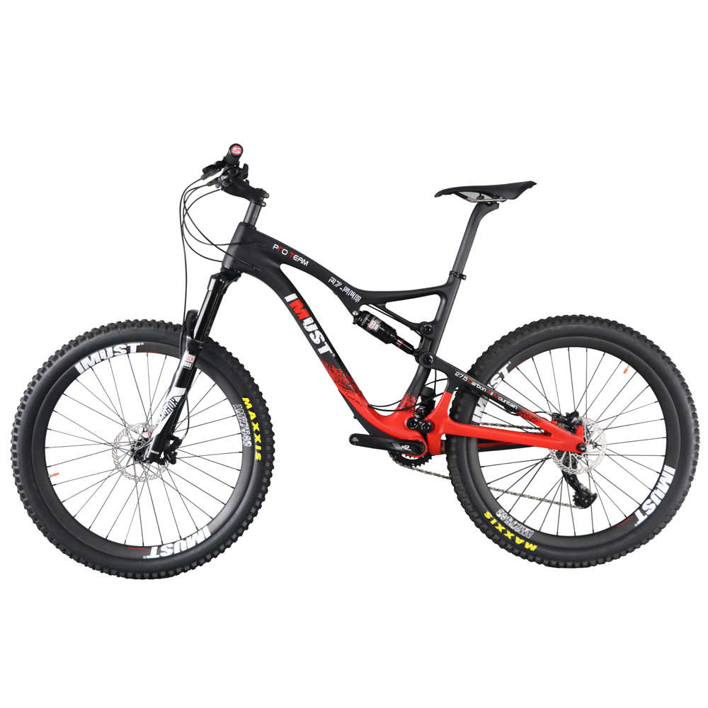 Professional all mountain 27.5er mtb bicycle Xtreme 7 full carbon full suspension mountain bike 2017 new(China (Mainland))