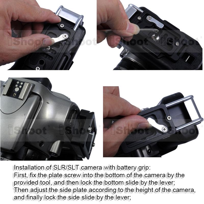 L Vertical Quick Release Plate Camera Bracket Holder for Nikon D810 D800 D750 D700 D610 D600 Battery Grip Tripod Ballheads