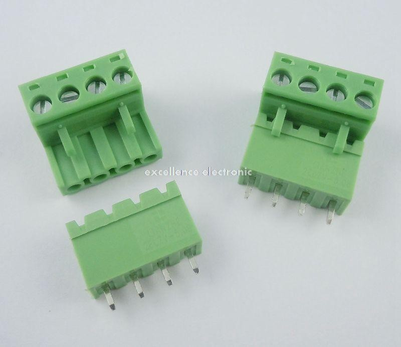 50 pc 2EDG-5.08-3P 3 PIN Screw Terminal Block Wire Connector Panel 5.08mm pitch