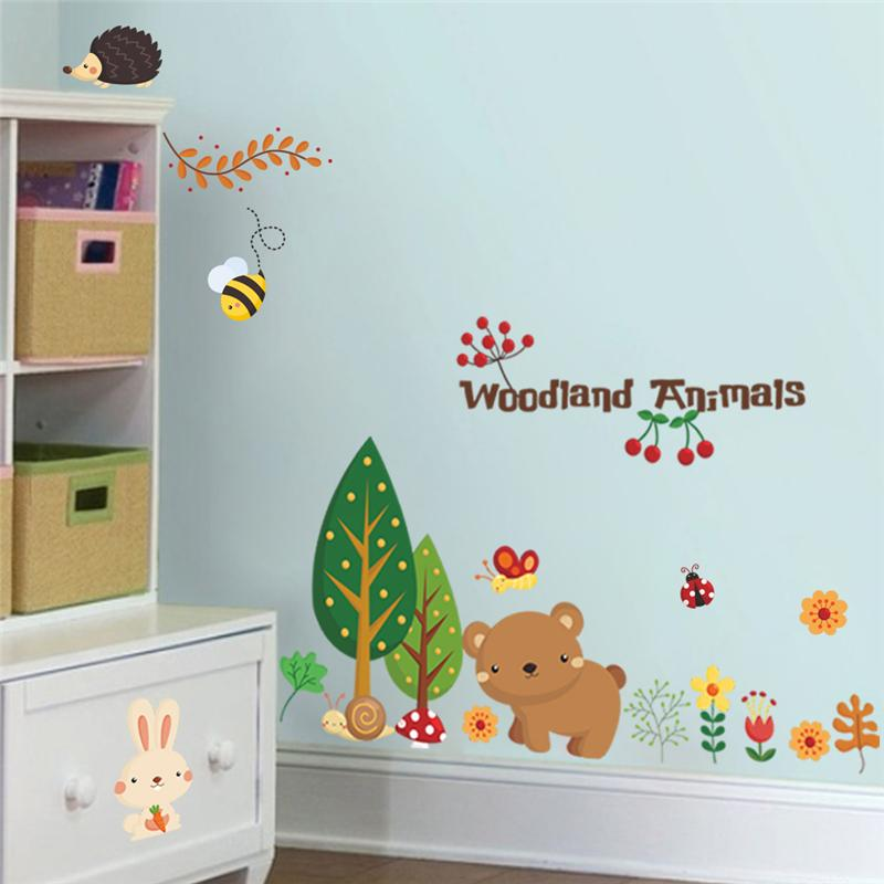 Wholesale Woodland Animals Wall Stickers For Kids Room