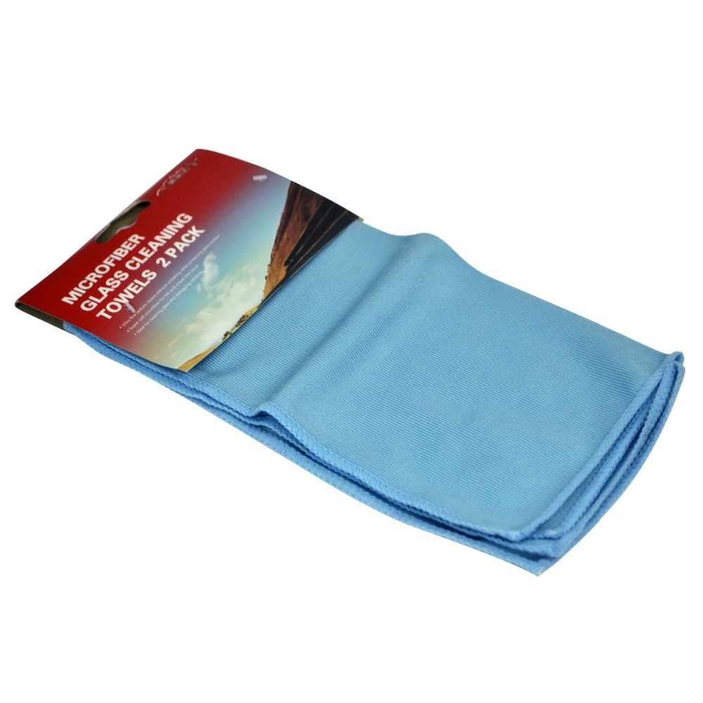 2 pack auto shine microfiber glass cleaning towels