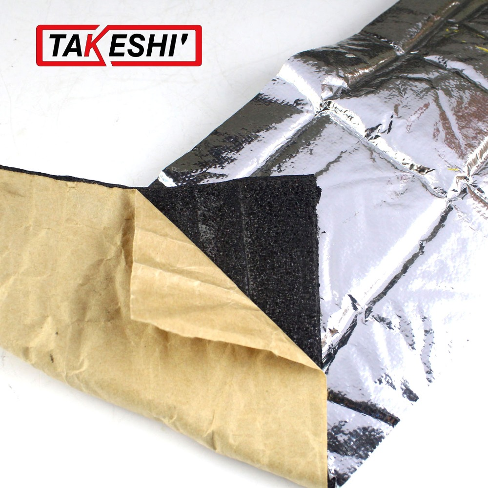 "8""x40"" 20cmx100cm Deadening FOIL SOUND HEAT Control Shield INSULATION Exhaust Deadener Muffler BLANKET CAR TRUCK MAT PAD(China (Mainland))"
