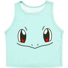 EAST KNITTING Pikachu Cropped Harajuku graphic print  pokemon Crop Top Tank tops for ladies casual(China (Mainland))