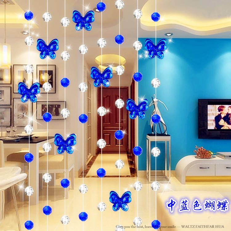 Butterfly Crystal bead curtain blind decorat beaded curtains for Window/Door/Kitchen/Glass fronted billboard/Show room/hanging(China (Mainland))
