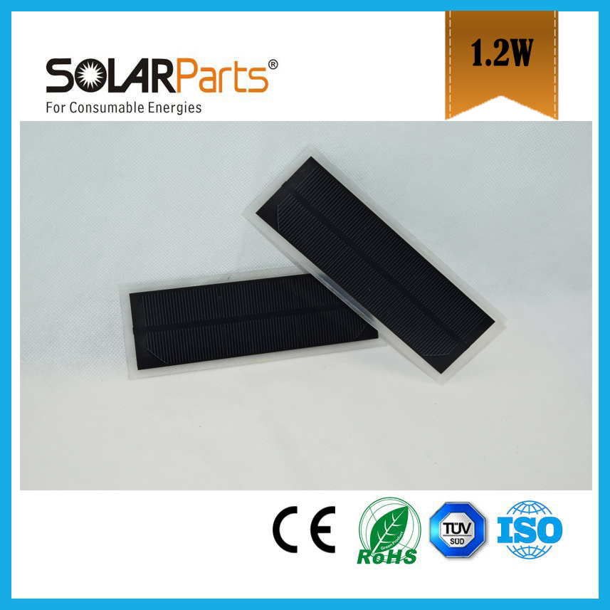 5 pcs 1.5V/1.2W 800mA poly cell transparency frosted pet solar panel solar module for charger use(China (Mainland))