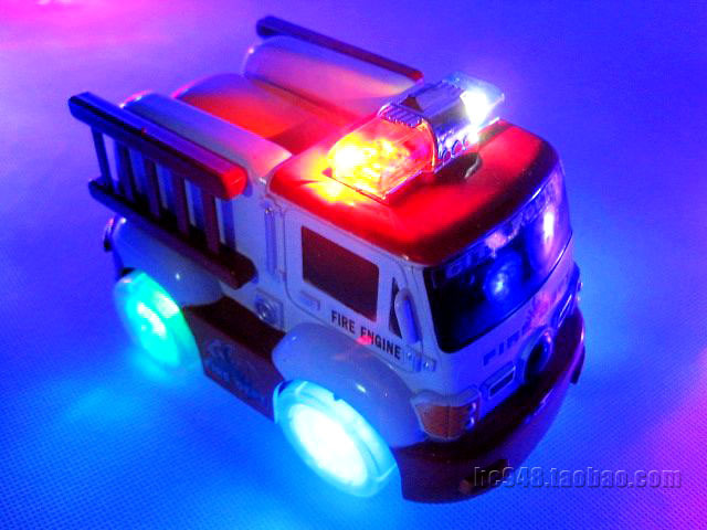 car toy for kids The electric fire truck urban rescue team Electric lighting electric car toy cars(China (Mainland))