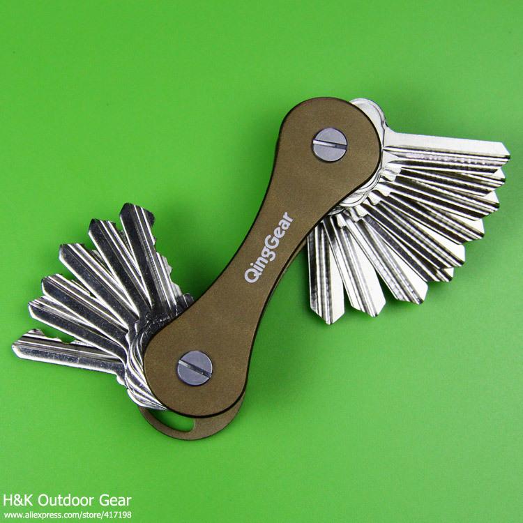Keys Holder Keysmart Hard Oxide Aluminum Key Chain Clip Organizer Pocket EDC Tool Key Bar QingGear