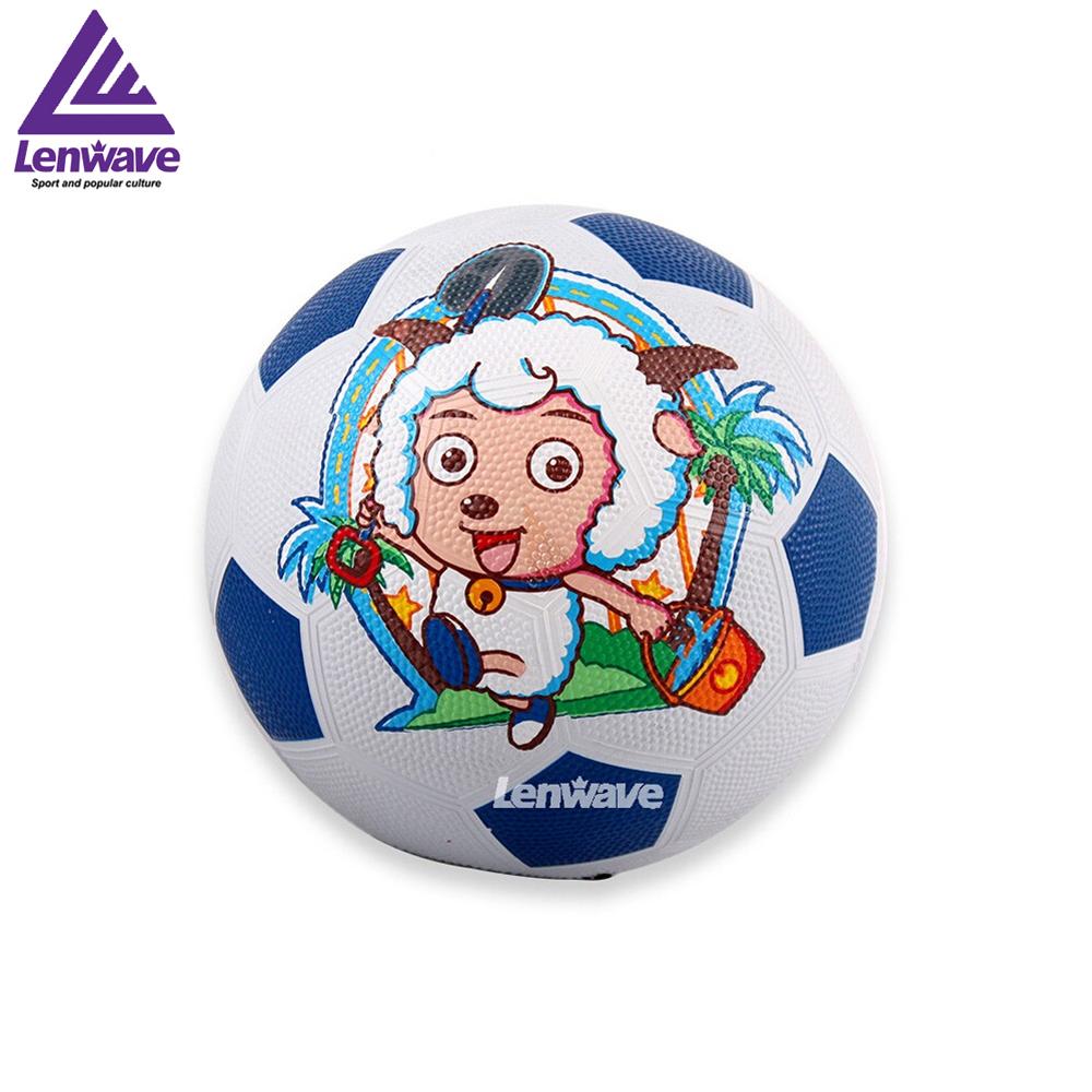 Children's Rubber Football Ball Size 3 Plesant Goat and Big Big Wolf Kids Soccer Ball Free Shipping(China (Mainland))