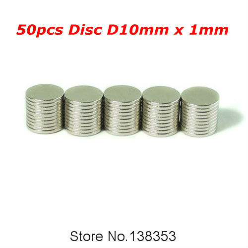 50pcs Bulk Neodymium Jewelry Magnets Sheets Disc Dia 10mm x 1mm N35 Super Strong Rare Earth NdFeB Permanent Magnet<br><br>Aliexpress
