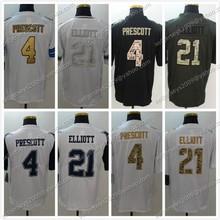 Men's #4 Dak Prescott White Color 21 Ezekiel Elliott Rush Limited Anthracite Black Army Green Salute Jerseys Fast Shipping(China (Mainland))