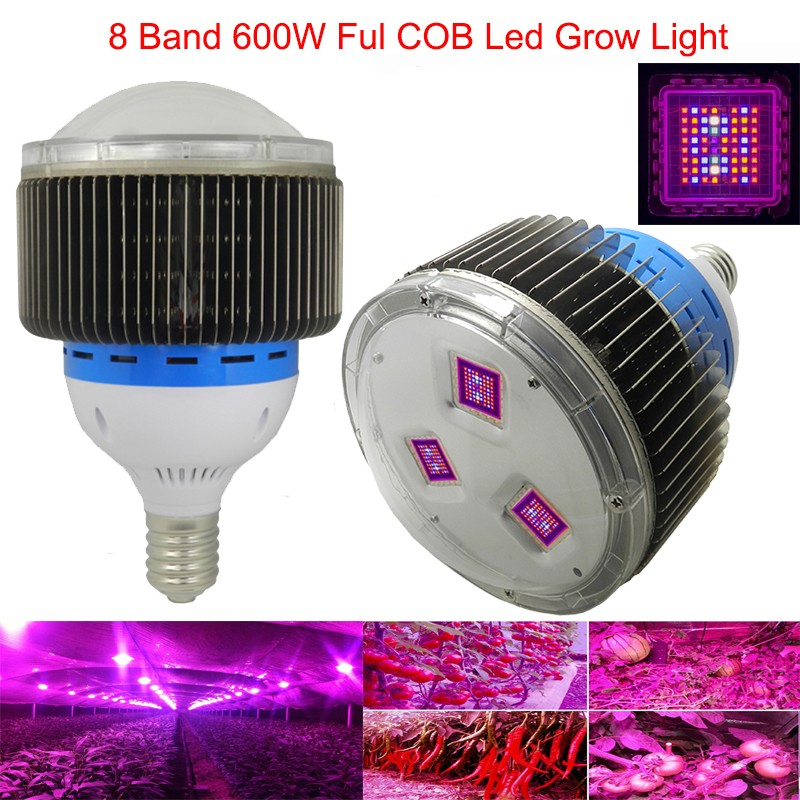 8Band Top Value Full Spectrum Cob Led Grow Lights 600W Grow Leds with CE FCC&RoHS for Hydroponic Lightings(China (Mainland))