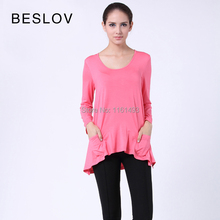 New Spring/Autumn O-neck Cotton Maternity Clothes For Pregnant Women  Breast Feeding(China (Mainland))
