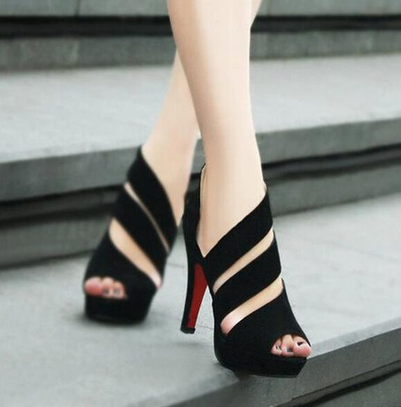 2016 New Fashion lady's Peep Toe pump Women's casual Pumps red bottom shoes women High Heels Women Wedding Shoes free shipping(China (Mainland))