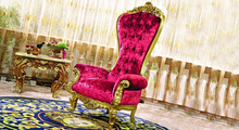 luxury royal European style solid wood carving golden and pink arm Chair(China (Mainland))