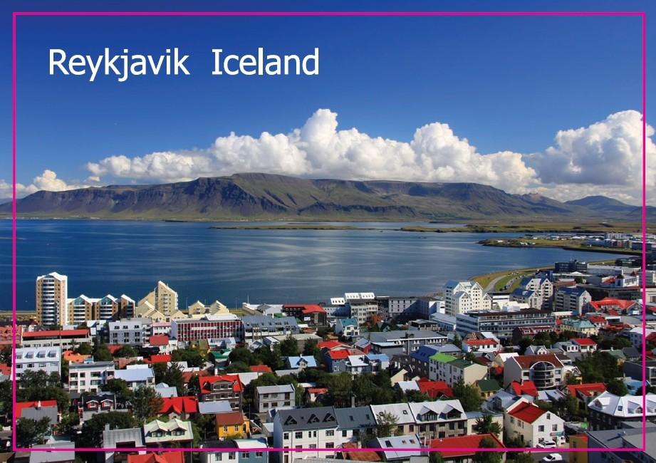Home Decor Stickers,Landscape reykjavik, the capital of Iceland Photo Fridge Magnet 5441 Tourism Souvenir(China (Mainland))