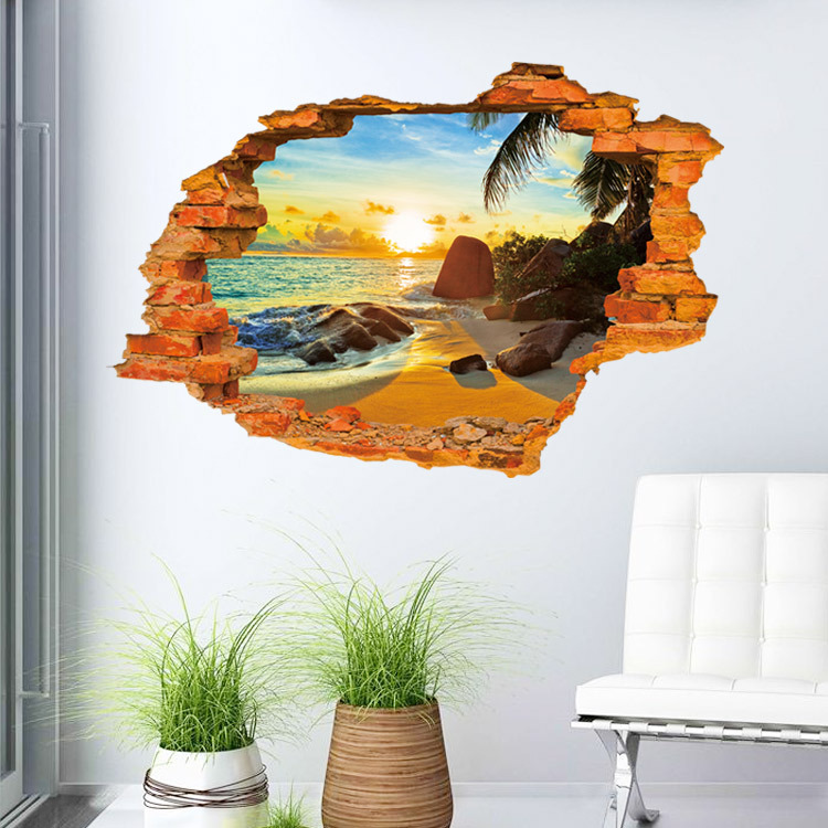 Popular 3d wall art buy cheap 3d wall art lots from china for Stickers 3d pared