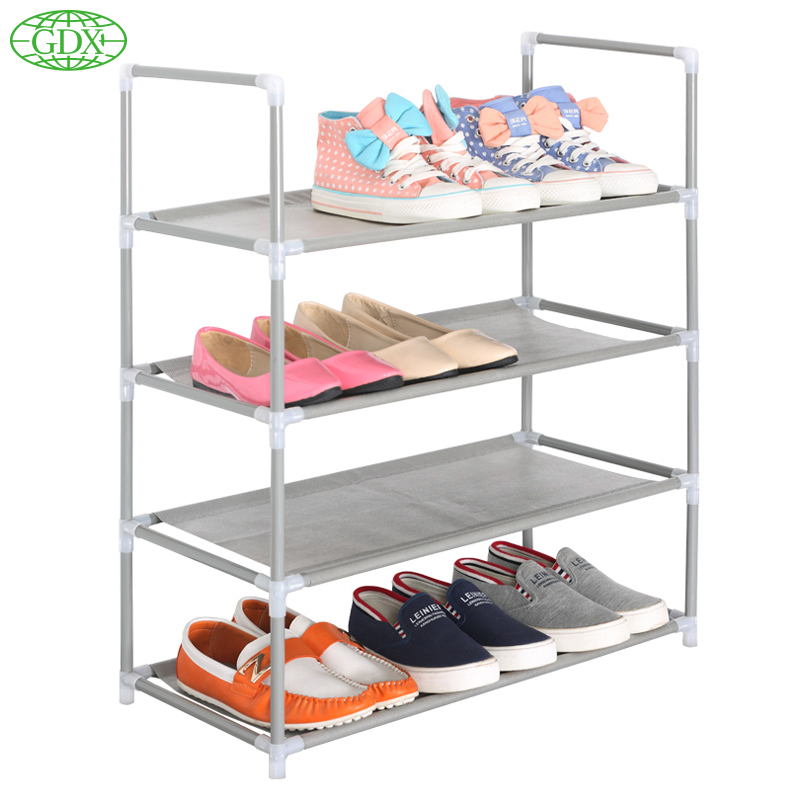 GDX Shoe Cabinet Non-woven Shoes Racks Storage Large Capacity Home Furniture DIY Simple 4 layers zapatos Tiers Free Shipping(China (Mainland))