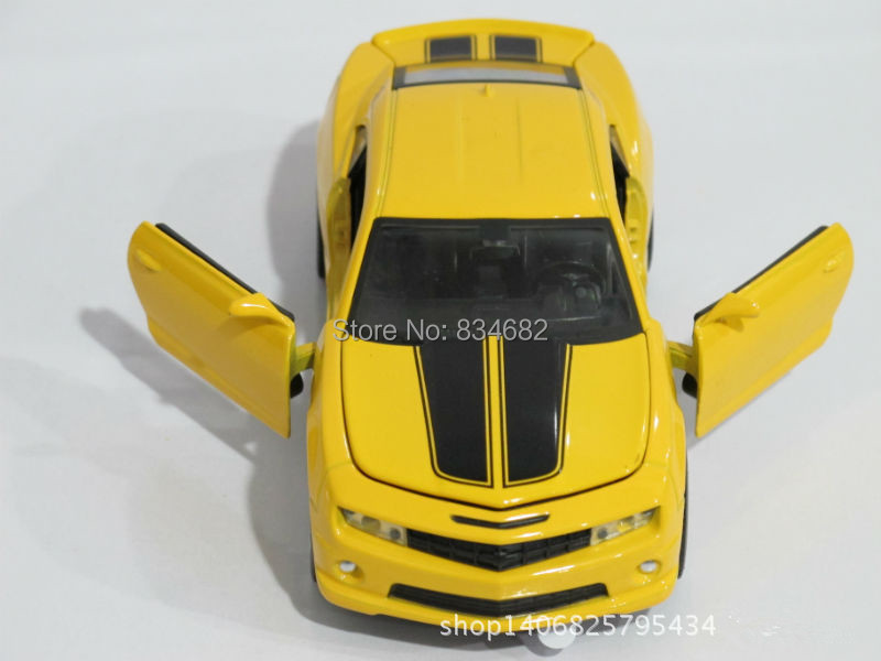 J.G Chen Super Cool 1:32 Chevrolet Camaro Sports Car Bumblebee Alloy Model Car Kids Toys Birthday Gift 2 Colors Scale Models(China (Mainland))