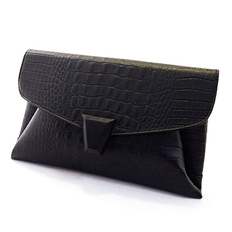 2016 Korean fashion crocodile handbag clutch bag evening bags women envelope bag A40-603(China (Mainland))