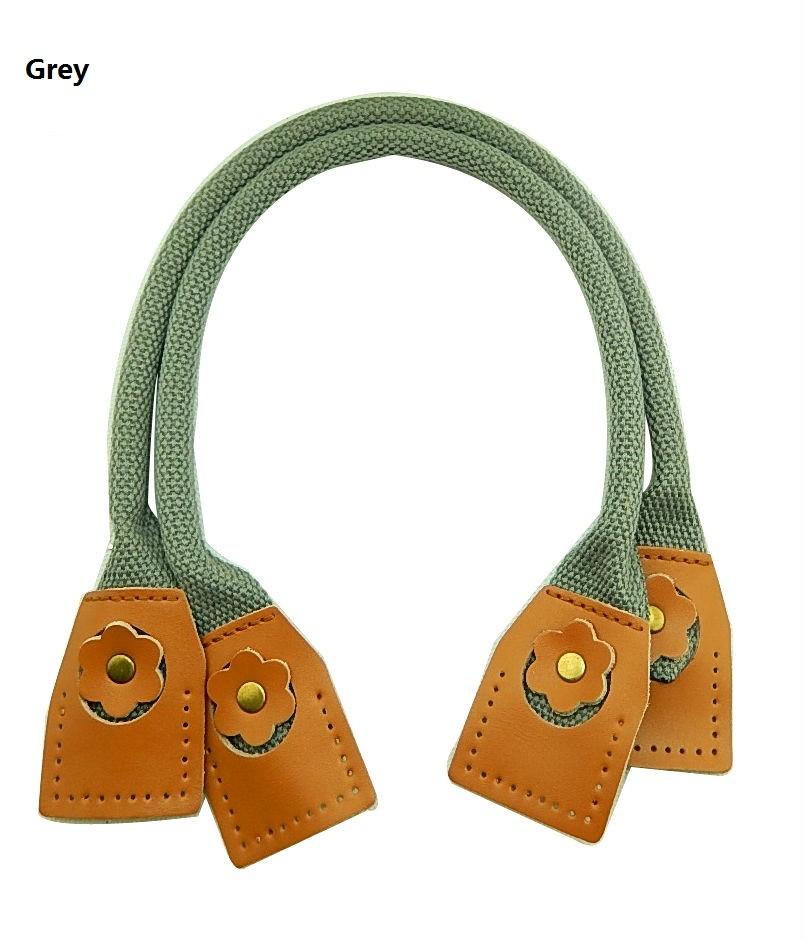 Free shipping DIY canvas+Leather bag handle 50*1.1cm, handbag strap accessories(China (Mainland))