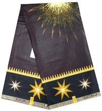 Блестящие звезды новые оптовые Африканская настоящий реальный печатает воск 6 ярдов анкара набивные ткани супер качество java стиль воск ткани(China (Mainland))