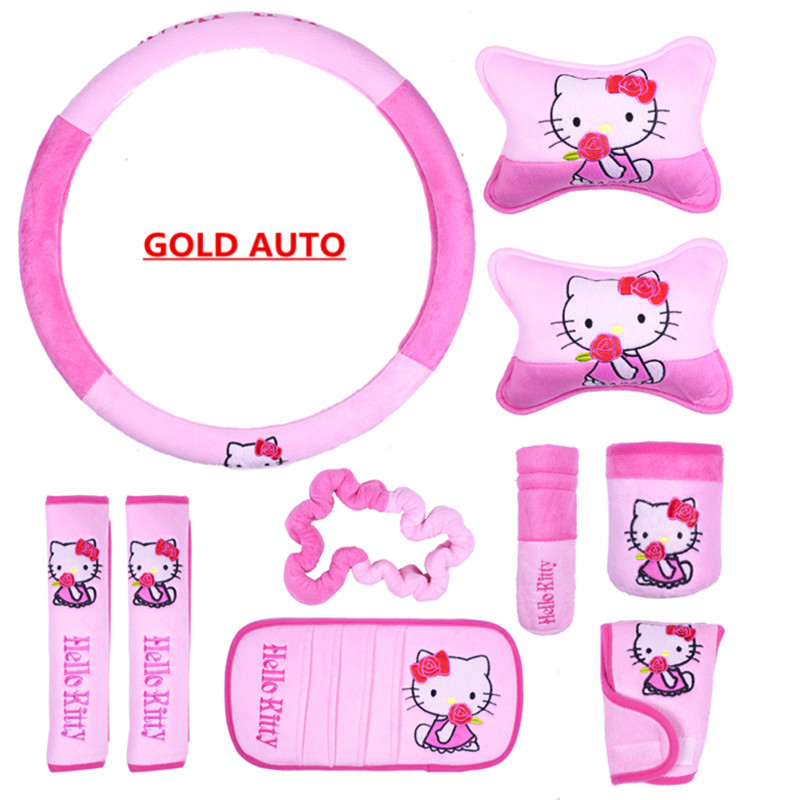 Hello Kitty Car Accessories Car Seat Covers Kitty Cat Universal Car ...