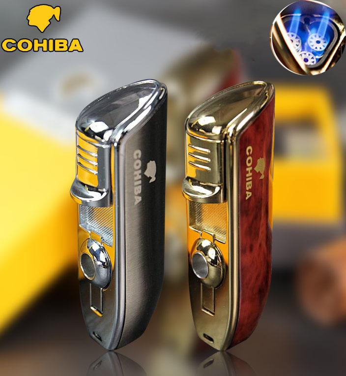 Гаджет  COHIBA brand metal 3 jet windproof Men